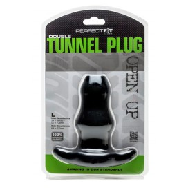 Perfect Fit Double Tunnel Plug Noir Large