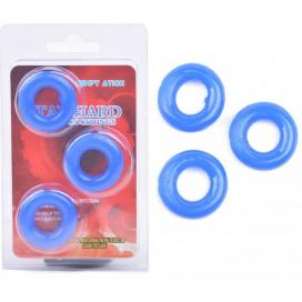 Lot de 3 Cockrings Donut 15mm Bleu