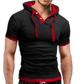 T-Shirt Capuche Noir