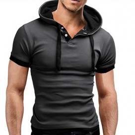 T-shirt Capuche Gris