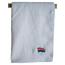 Pride Items Serviette Eponge Blanche Rainbow 40 x 66 cm