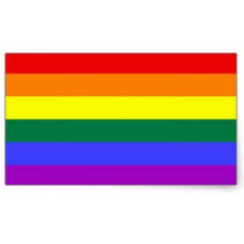 Pride Items Autocollant Arc-en-ciel 7 x 5.2 cm