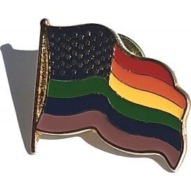Pride Items Pin's Drapeau au Vent Rainbow Etoilé